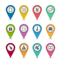 Set business pictogram icons for your design vector