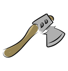 small axe drawing on white background vector image