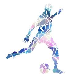 Soccer kick vector image