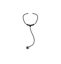 stethoscope icon flat vector image