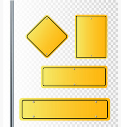 street signs of 3 way vector image