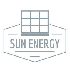 Sun energy logo simple gray style vector