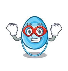 Super hero oxygen mask character cartoon vector