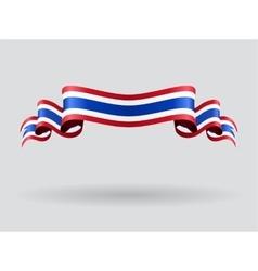 Thai wavy flag vector