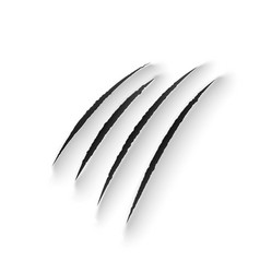 tiger claw marks scratches wild animal rips vector image