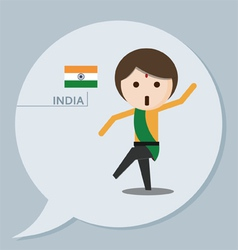 Travel collection India vector image