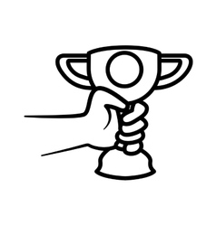 Trophy cup icon Winner design graphic vector image