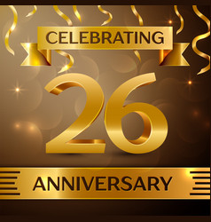Twenty six years anniversary celebration design vector