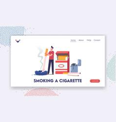 unhealthy habit smoking nicotine tobacco vector image