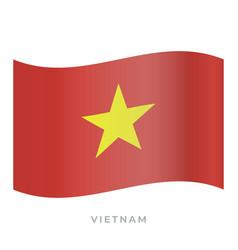 vietnam waving flag icon vector image