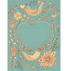Vintage retro background with floral ornament and vector image