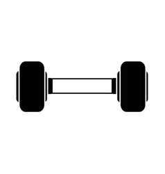 Weight lifting gym device vector