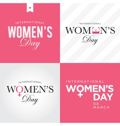 womens day set logo vector image