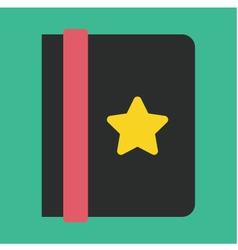 Address Book Icon vector image vector image