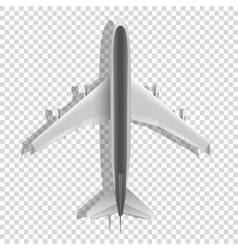 Airplane above icons Passenger plane isolated on vector image vector image