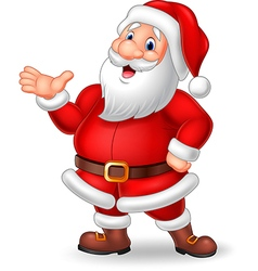 Cartoon Santa presenting isolated vector image vector image