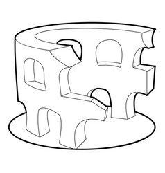 coliseum icon outline style vector image vector image