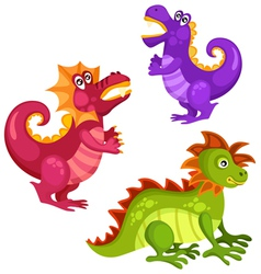 dragon set vector image