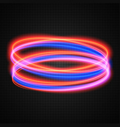 neon circles transparent light effect vector image