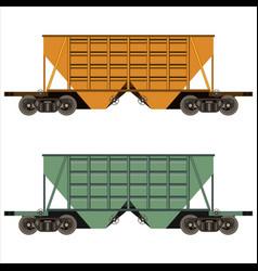 railway freight car vector image