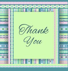 Thank you card vector image vector image