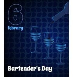 threeglasses on blue background vector image
