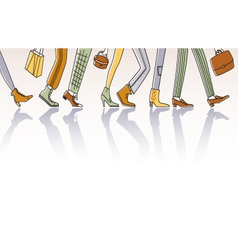 walking people vector image vector image