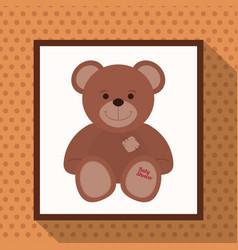 cute teddy bear baby shower vector image