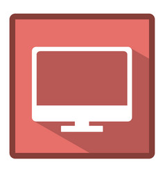 emblem computer icon stock vector image