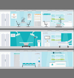 info graphic of medical services in hospitals vector image vector image