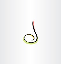 musical note colorful icon letter d logo vector image