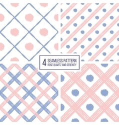 Seamless pattern of diagonal stripes and circle in vector image vector image