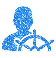 ship captain grunge icon vector image