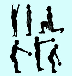 Fitness sport activity silhouette vector