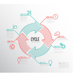 infographic cycle template vector image
