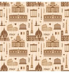 Landmarks of Italy seamless pattern vector image