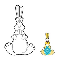 Rabbit and Easter egg coloring book Traditional vector image
