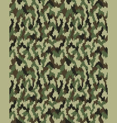 seamless fashion camouflage vector image vector image