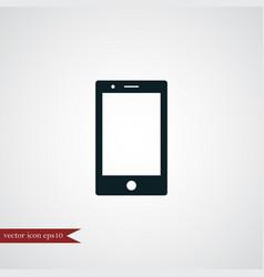 smartphone icon simple vector image