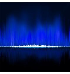 Sound waves oscillating on black background EPS 8 vector image vector image