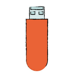 usb memory isolated icon vector image