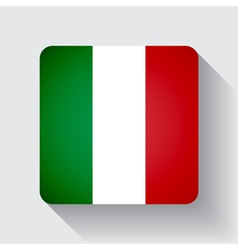 Web button with flag of Italy vector image vector image