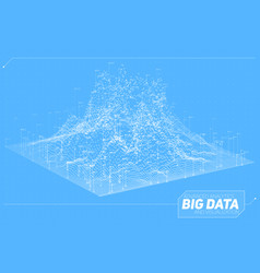 abstract 3d big data visualization vector image vector image