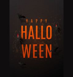 beautiful black greeting poster for halloween vector image vector image