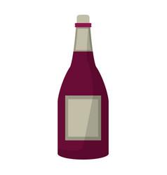 bottle wine alcohol drink vector image