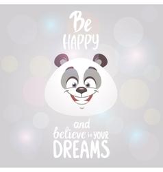 happy panda vector image