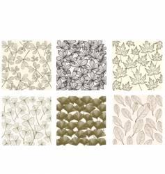 leaf patterns vector image
