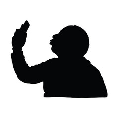 man silhouette with mobile phone design vector image vector image