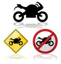 Motorcycle signs vector image vector image