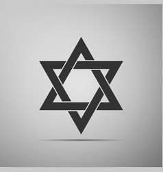 Star of david icon isolated on grey background vector